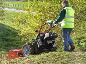 Rapid Tractor being used on a bank